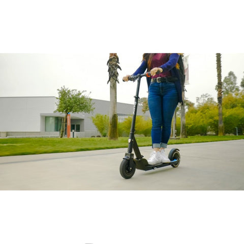 Image of Razor E Prime Air Electric Scooter action shot riding