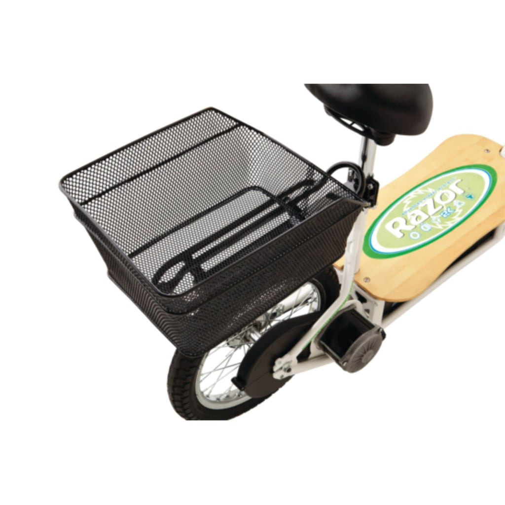 Razor EcoSmart Metro Electric Scooter rear basket