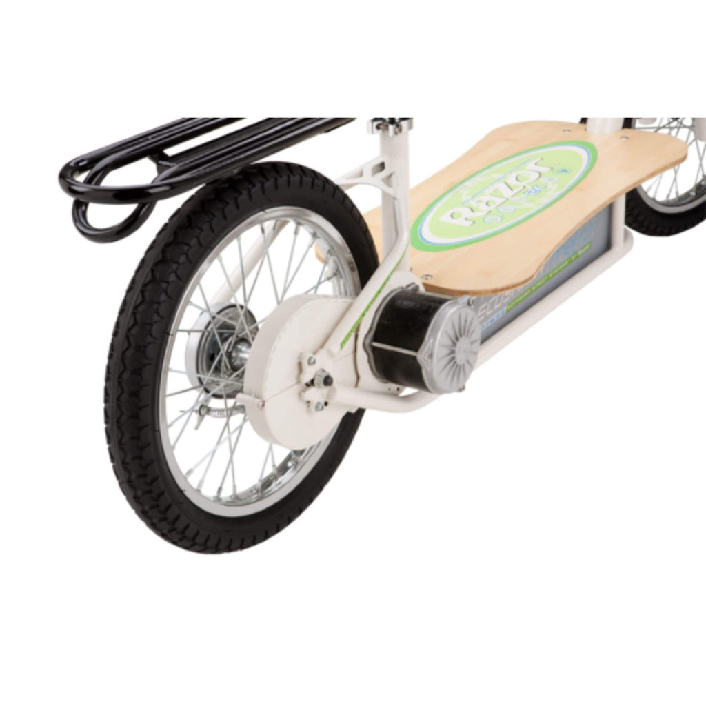 Razor EcoSmart Metro Electric Scooter rear wheel close up