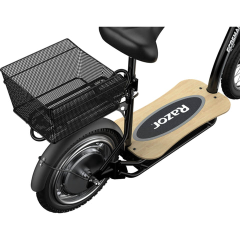 Image of Razor EcoSmart Metro HD Electric Scooter rear basket