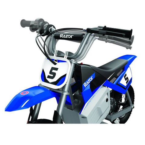Image of Razor MX350 kids electric motorbike front angle