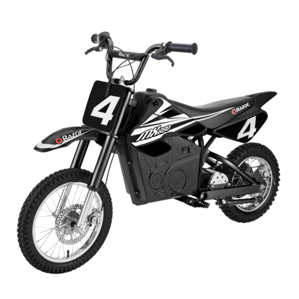 Razor MX650 Dirt Rocket black side view