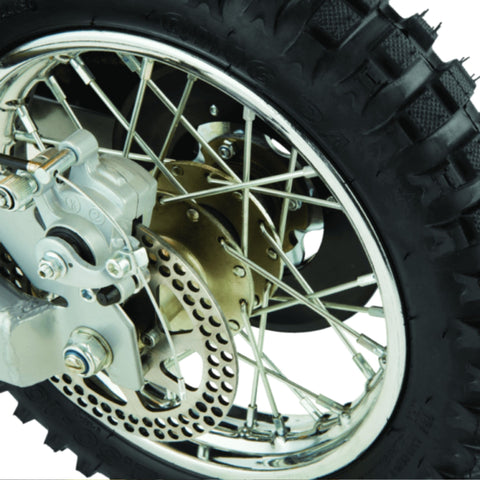 Image of Razor MX650 Dirt Rocket rear wheel close up