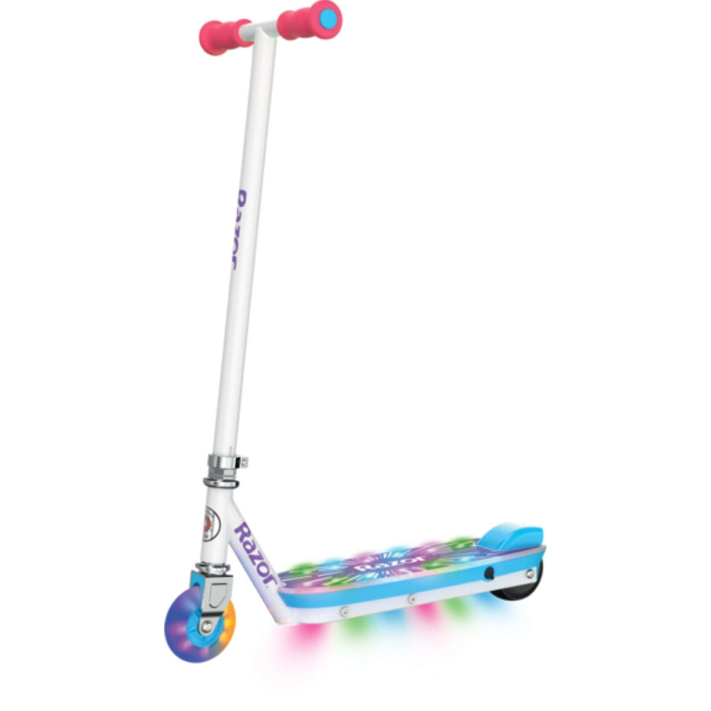 Razor Party Pop Electric Scooter side angled view