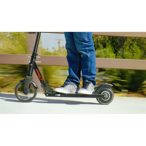 Image of Razor Power A5 Black Label Electric Scooter side action shot