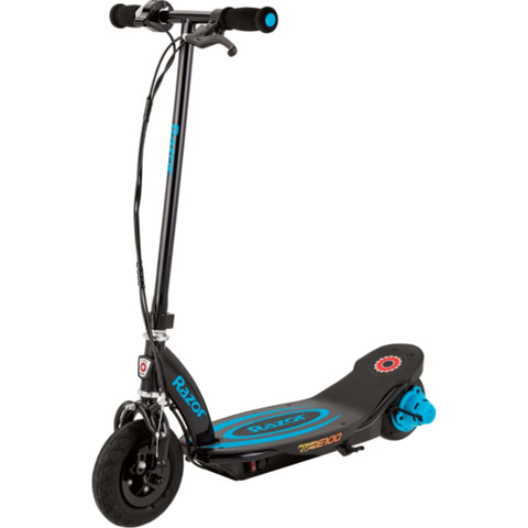 Image of Razor Power Core E100 Electric Scooter blue side view