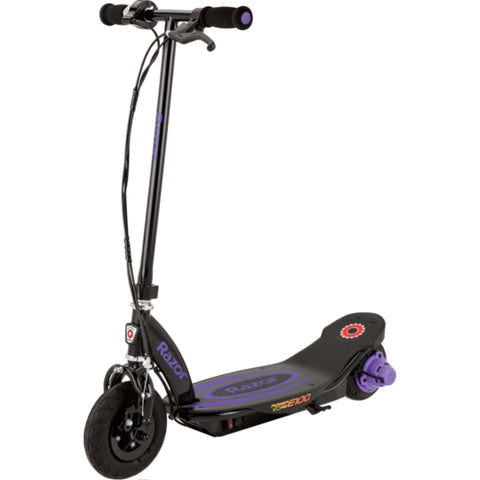 Image of Razor Power Core E100 Electric Scooter purple side view