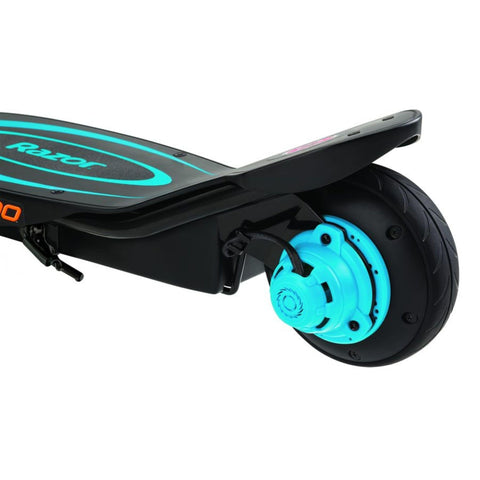 Image of Razor Power Core E100 Electric Scooter rear wheel blue