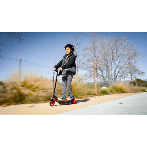 Image of Razor Power Core E90 Glow Electric Scooter action shot side on