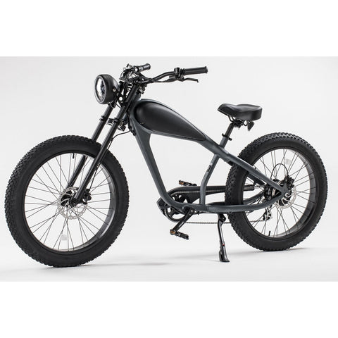 Revi Bikes Cheetah Cafe Racer black front angle