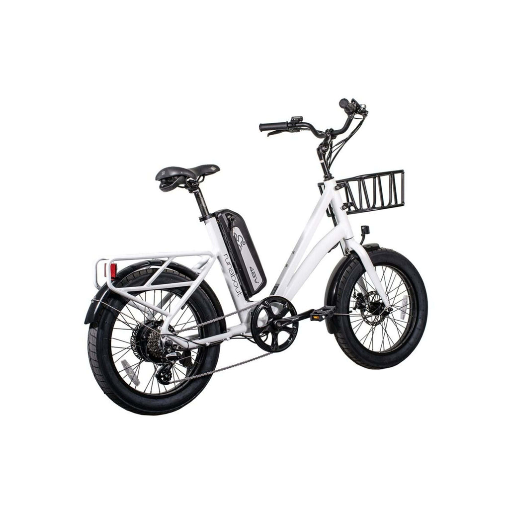 Revi Runabout Electric Bike white rear angle