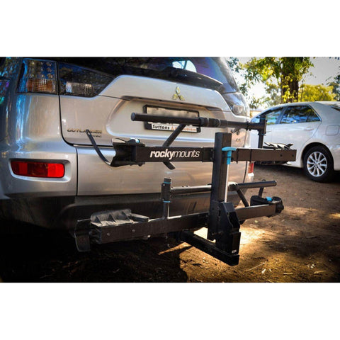 Rocky Mount Monorail Hitch Bike Rack on jeep
