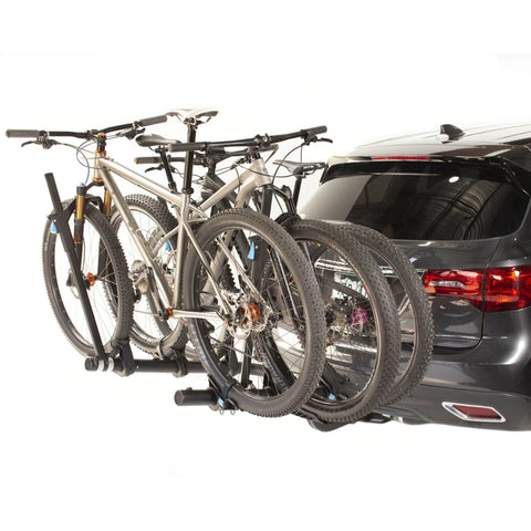 Rocky Mount WestSlope 3 Hitch Bike Rack rear view with bikes