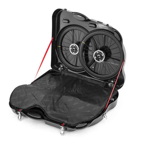Scicon AeroTech Evolution X Bicycle Travel Case open and wheels view