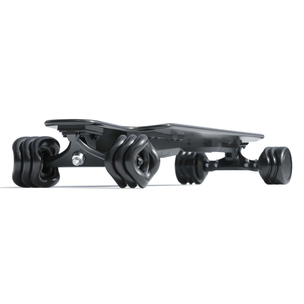 Shark Wheel Shark Electric Power Skateboard black side angle
