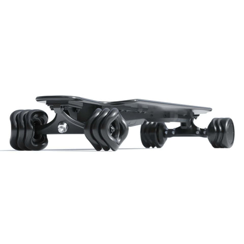 Image of Shark Wheel Shark Electric Power Skateboard black side angle