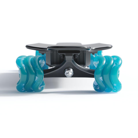Image of Shark Wheel Shark Electric Power Skateboard blue front. angle