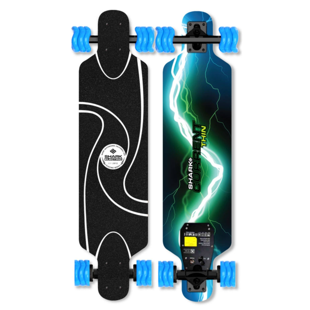 Shark Wheel Shark Electric Thin Skateboard Blue