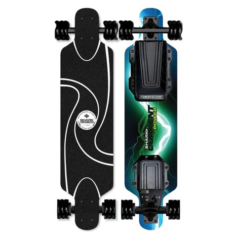 Image of sharkwheel electric skateboard black wheels