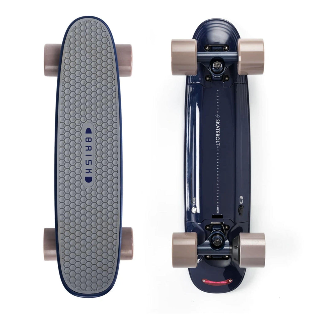 Skatebolt Brisk Electric Skateboard top and bottom vertical views