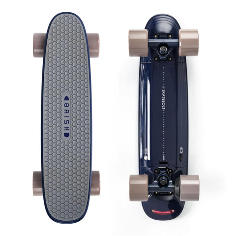 Image of Skatebolt Brisk Electric Skateboard top and bottom vertical views