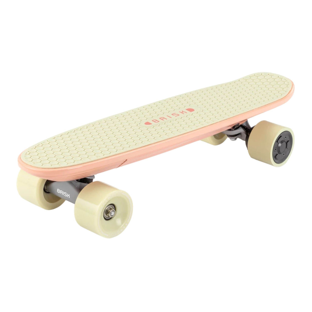 Skatebolt Brisk Electric Skateboard pink front angle view