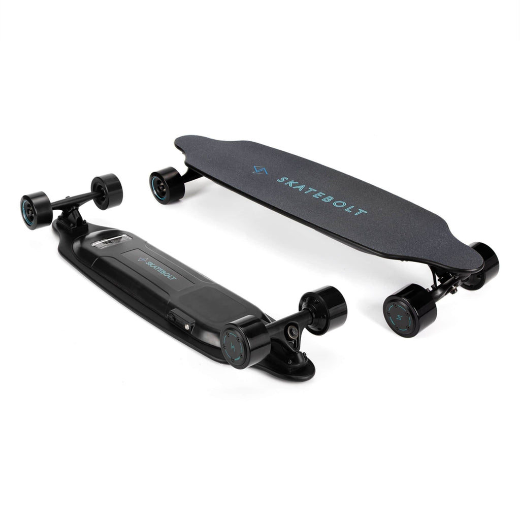 Skatebolt Tornado Pro A Electric Skateboard side top and bottom angle
