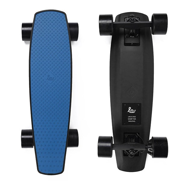 SoFlow LOU 1.0 Electric Skateboard Blue Top Black Bottom
