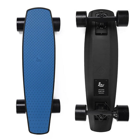Image of SoFlow LOU 1.0 Electric Skateboard Blue Top Black Bottom