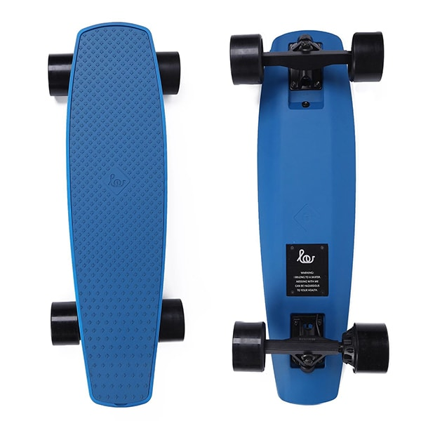 SoFlow LOU 1.0 Electric Skateboard Blue Top Blue Bottom