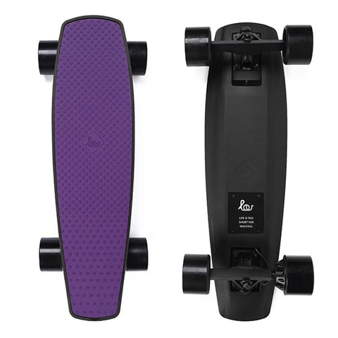 Image of SoFlow LOU 1.0 Electric Skateboard Purple Top Black Bottom
