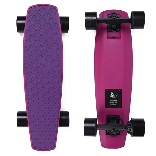 SoFlow LOU 1.0 Electric Skateboard Purple Top Purple Bottom