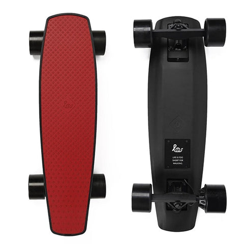 Image of SoFlow LOU 1.0 Electric Skateboard Red Top Black Bottom
