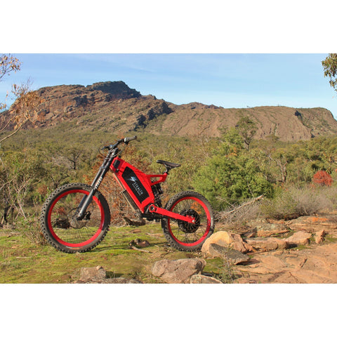 Image of Stealth B-52 Electric Bike Action Shot