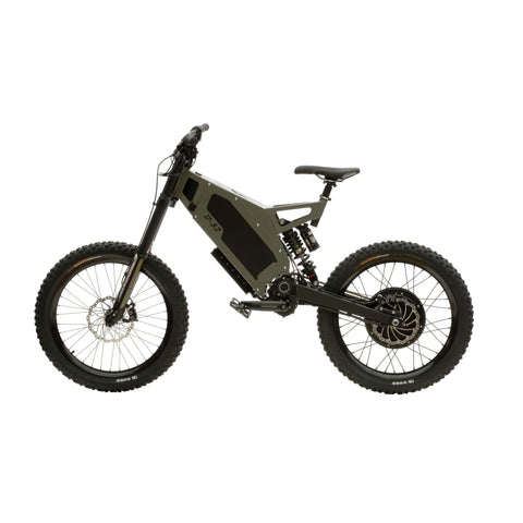 Image of Stealth B-52 Electric Bike Green Side View