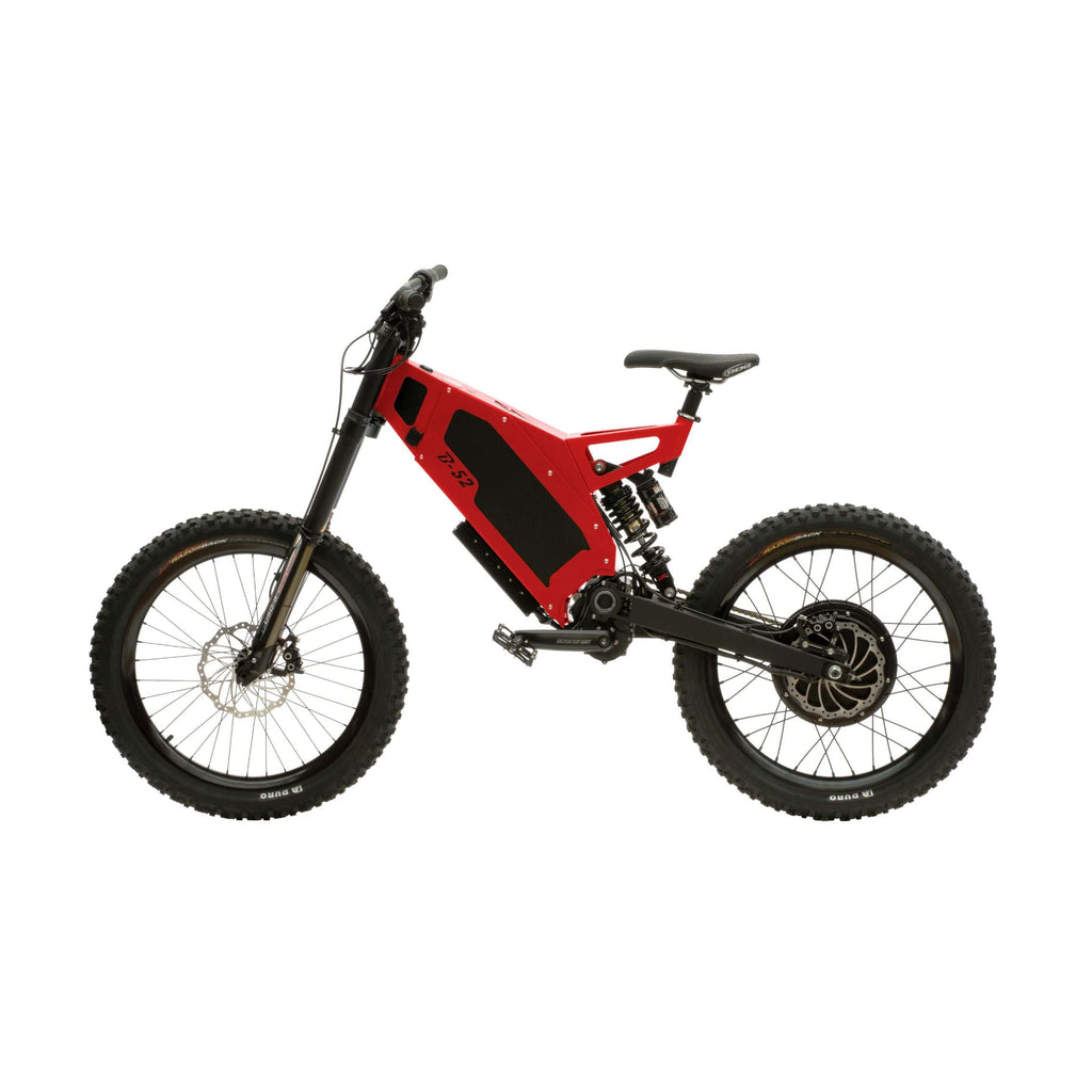 Stealth B-52 Electric Bike Red Side View