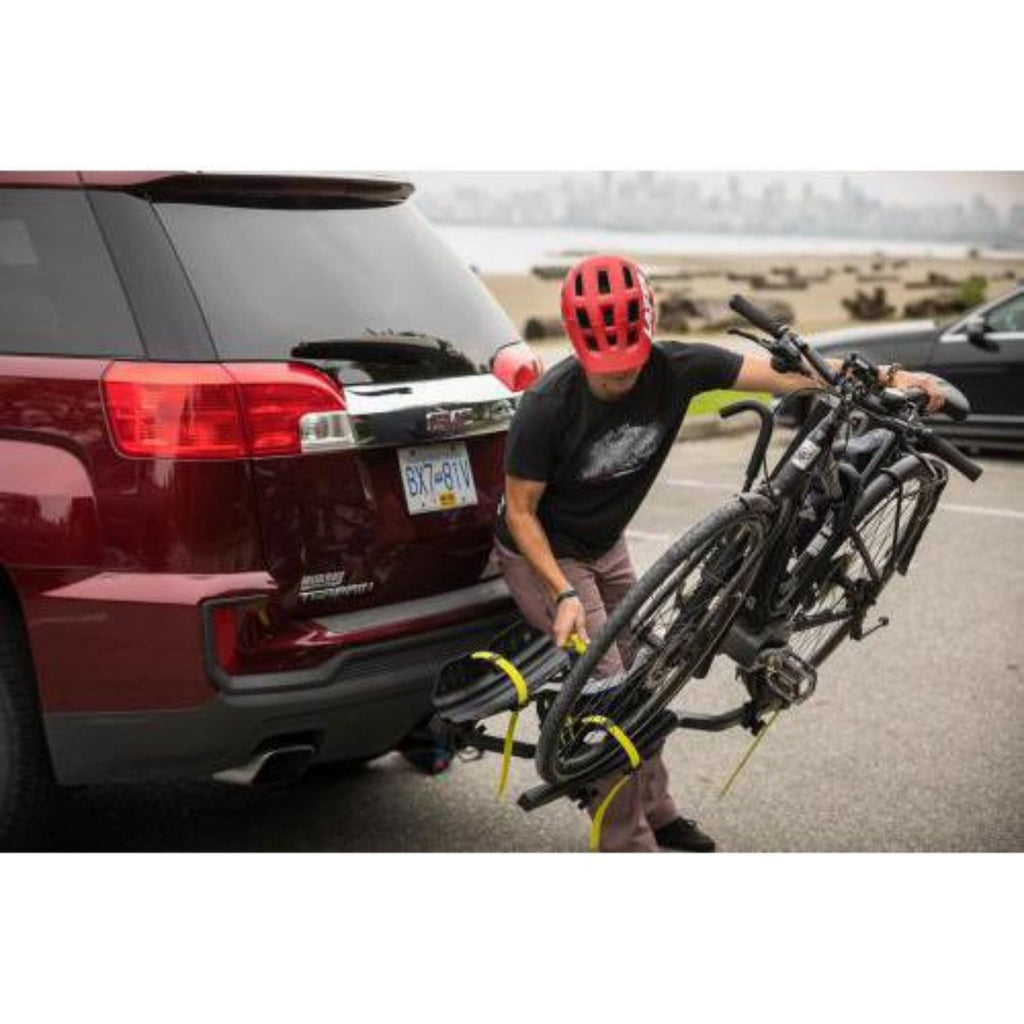 Swagman Current Hitch Mount Bike Rack tilted
