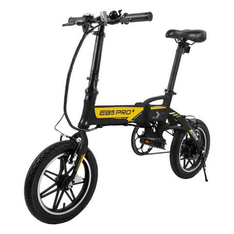 Image of Swagtron EB5 Pro Plus Folding Electric Bike black front angle