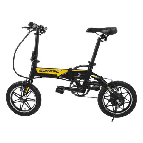 Image of Swagtron EB5 Pro Plus Folding Electric Bike black side view