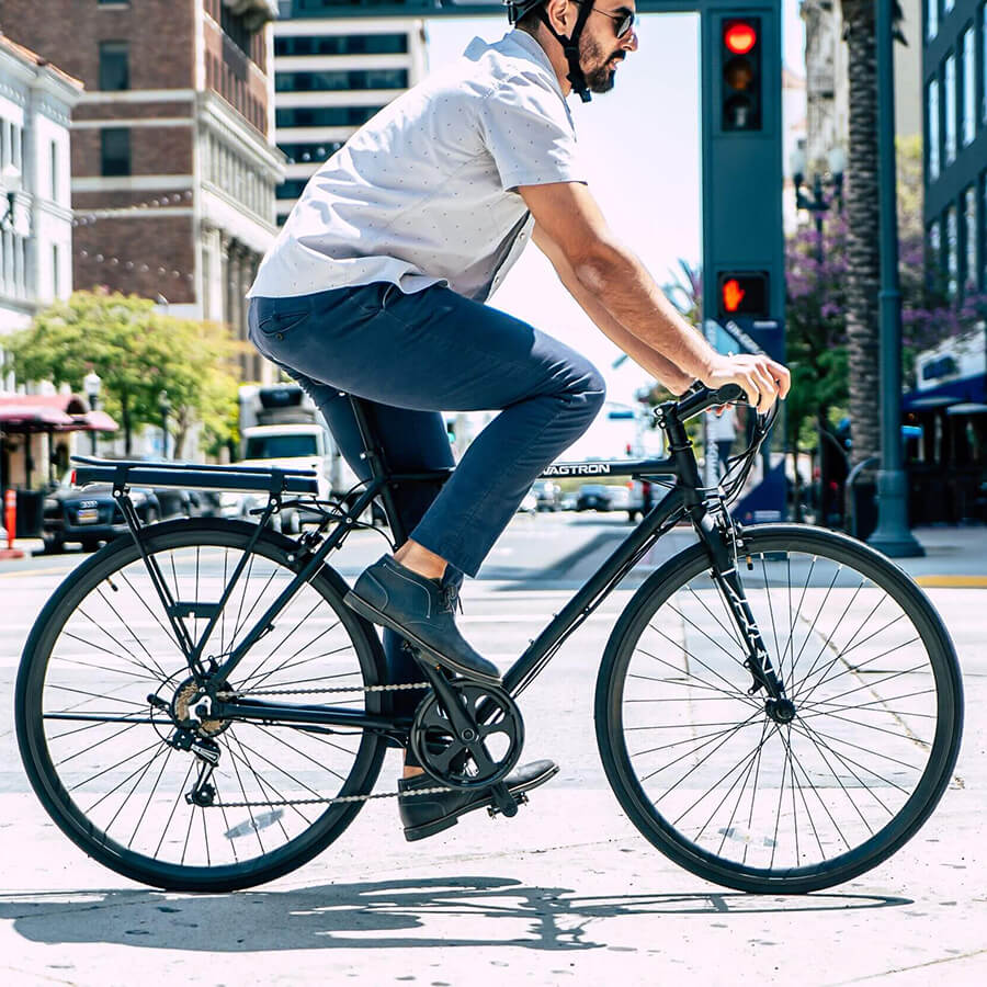 Swagtron EB12 Electric Commuter City Bike on the streets