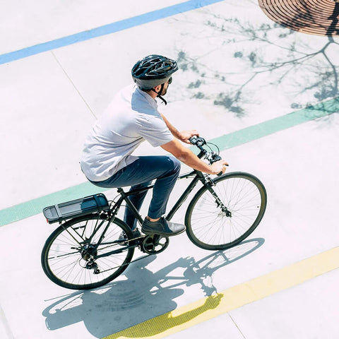 Image of Swagtron EB12 Electric Commuter City Bike from above