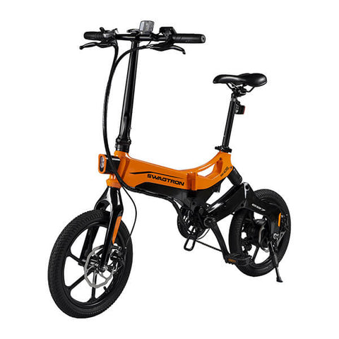 Image of Swagtron EB7 Plus Electric Bike 3D View Facing Left