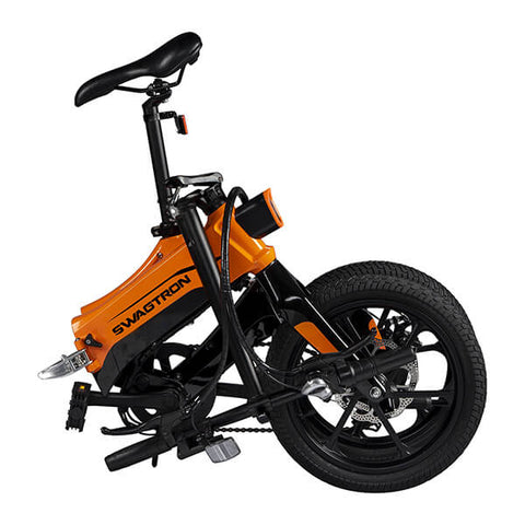Image of Swagtron EB7 Plus Electric Bike Folded Extended Seat