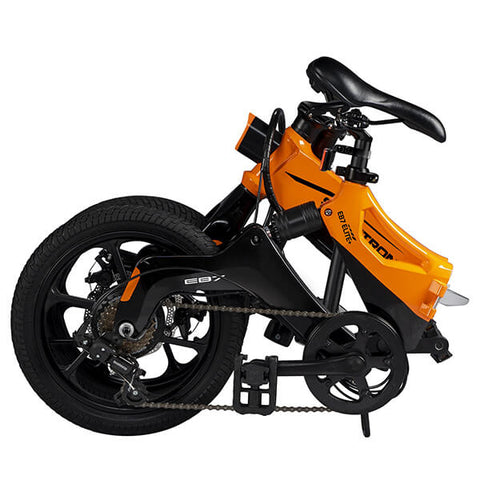 Image of Swagtron EB7 Plus Electric Bike Folded Seat Reverse Angle