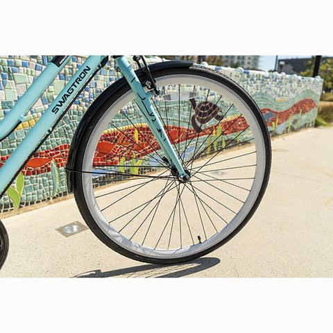 Image of Swagtron EB9 Step-Through Electric City Bike Front Wheel