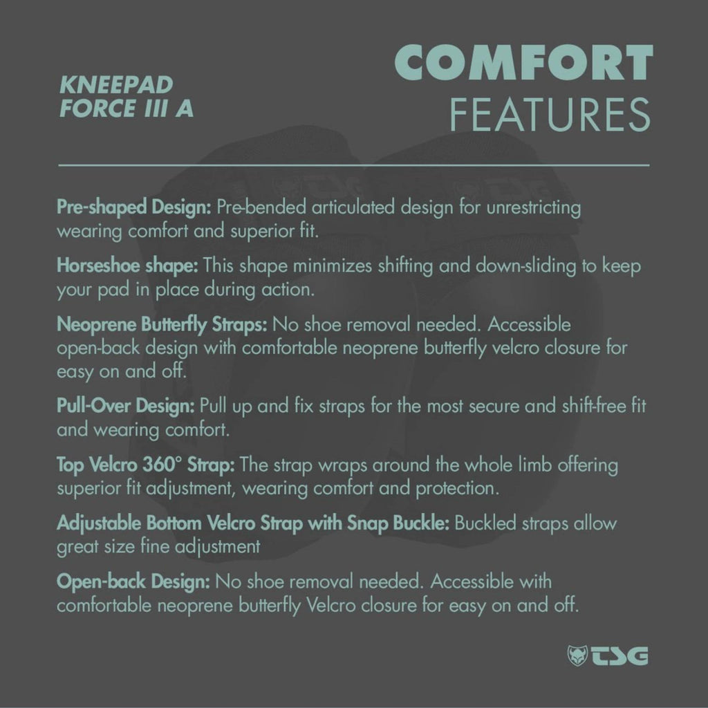 TSG Knee Pad Force 3 comfort features