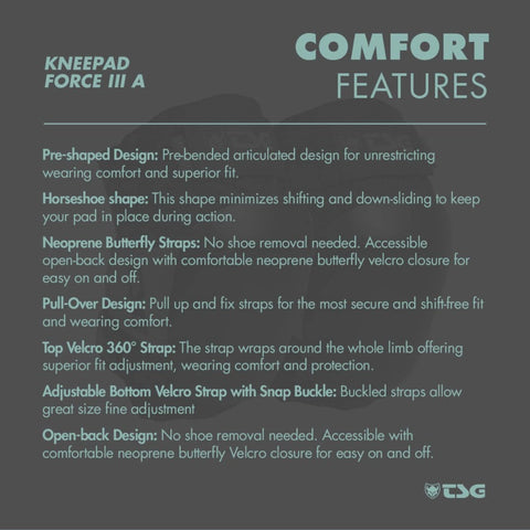 Image of TSG Knee Pad Force 3 comfort features