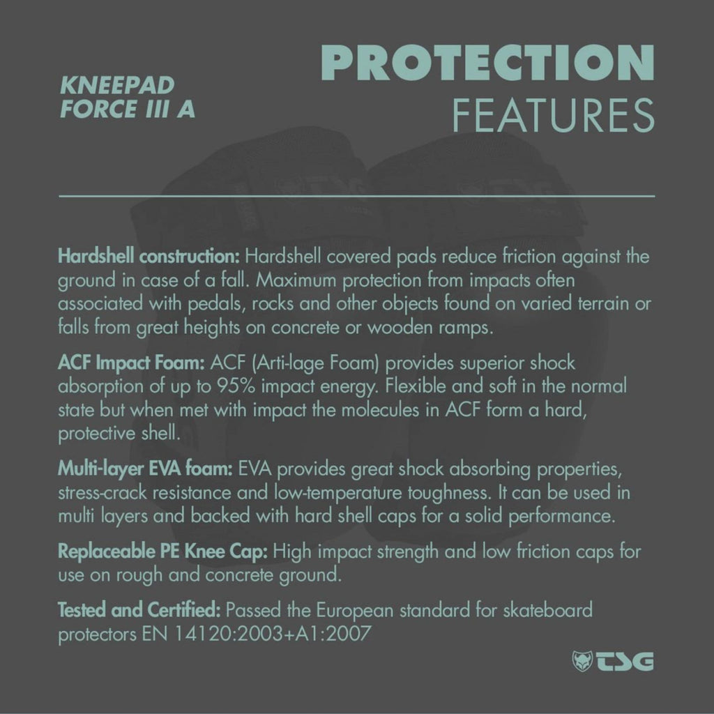TSG Knee Pad Force 3 protection features