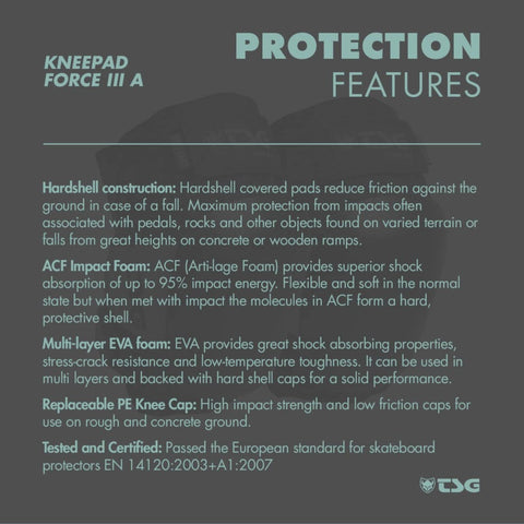 Image of TSG Knee Pad Force 3 protection features