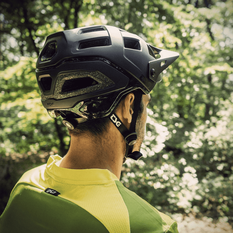 Image of TSG Scope Helmet action shot rear view